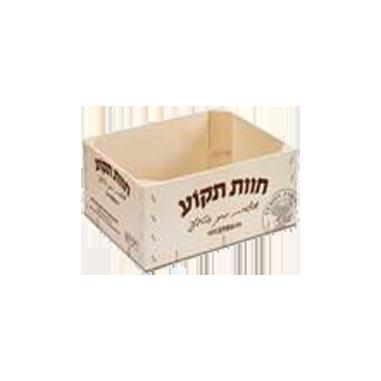 Houten doos zonder deksel met of zonder bedrukking
